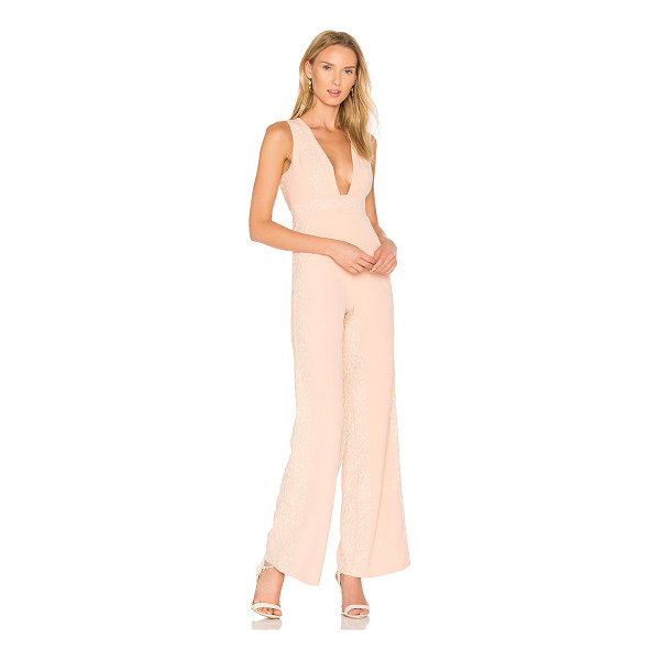 "X BY NBD Huntley Jumpsuit - ""Be ever the blushing beauty in X by NBD's Huntley..."