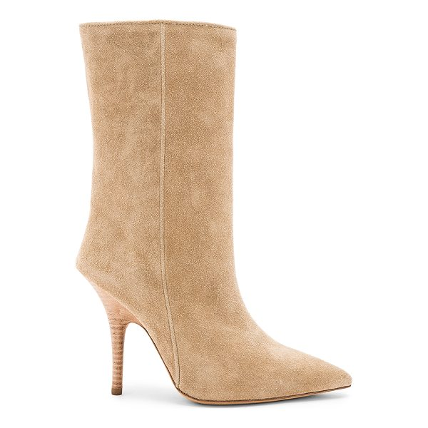 """YEEZY Season 5 Tubular Ankle Boot - """"Suede upper with leather sole. Pull on styling. Heel..."""