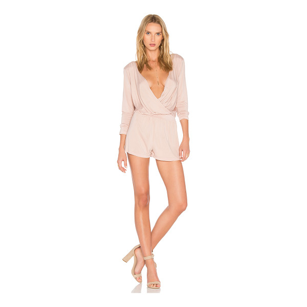 YFB CLOTHING Blair Romper - 96% cupro 4% spandex. Hand wash cold. Surplice neckline...