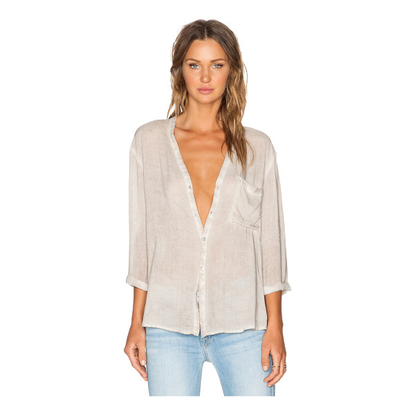 YFB CLOTHING Nonnie top - 100% rayon. Front button closure. Cut-out draped back....