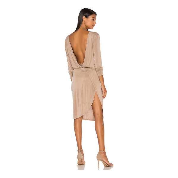 YFB CLOTHING Vamp Dress - Poly blend. Hand wash cold. Unlined. Deep V surplice...