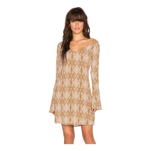 YIREH Maize bell sleeve dress - 100% rayon. Hand wash cold. Unlined. Back tie closure....
