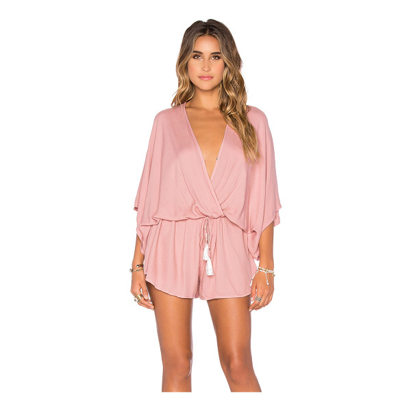 YOUNG FABULOUS & BROKE Ashley romper - 100% rayon. Hand wash cold. Wrap front with button closure....