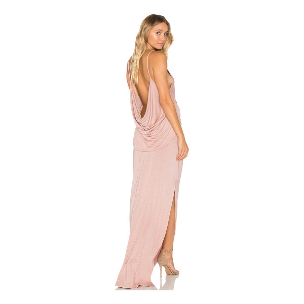 YOUNG FABULOUS & BROKE Flint Maxi Dress - 92% modal 8% spandex. Hand wash cold. Unlined. Wrap front....