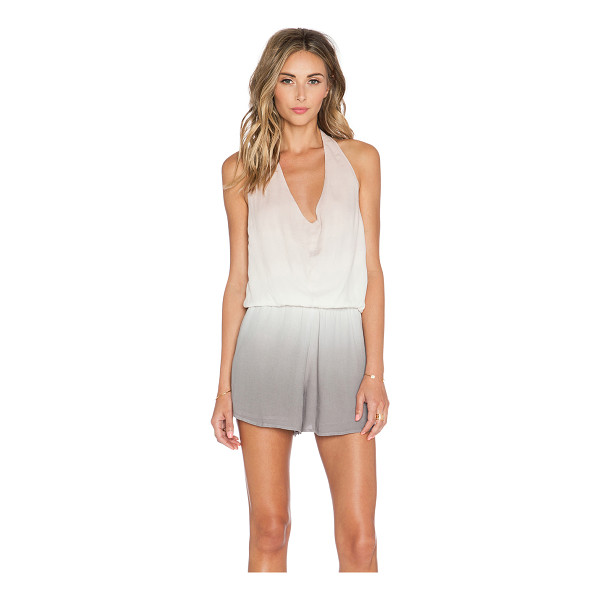 YOUNG FABULOUS & BROKE Lark romper - 100% rayon. Hand wash cold. Halter strap ties around neck....