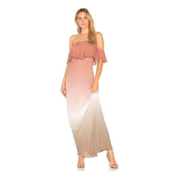 YOUNG FABULOUS & BROKE Nell Maxi Dress - 100% rayon. Hand wash cold. Unlined. Elasticized neckline....