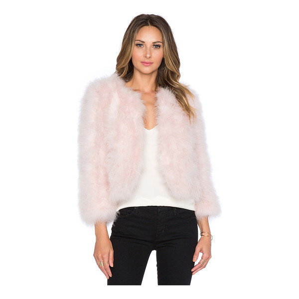 YUMI KIM Away we go faux fur feather jacket - Self: 100% feathersLining: 100% poly. Dry clean only. Hook...
