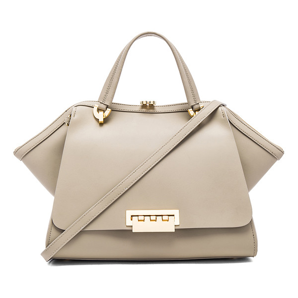 ZAC ZAC POSEN Eartha Iconic Jumbo Double Handle Bag - Leather exterior and lining. Zip top closure. Exterior slit...