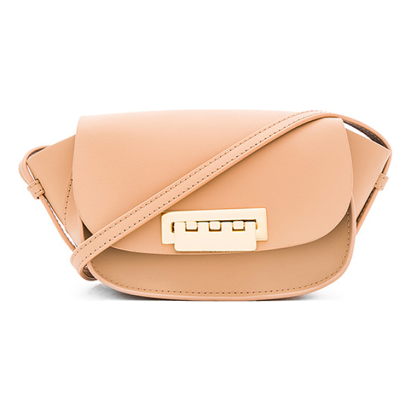ZAC ZAC POSEN Eartha iconic micro accordion crossbody bag - Leather exterior and lining. Flap top with fold over clasp...