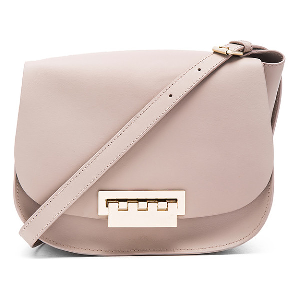 ZAC ZAC POSEN Eartha Iconic Saddle Bag - Leather exterior and lining. Flap top with fold over clasp...