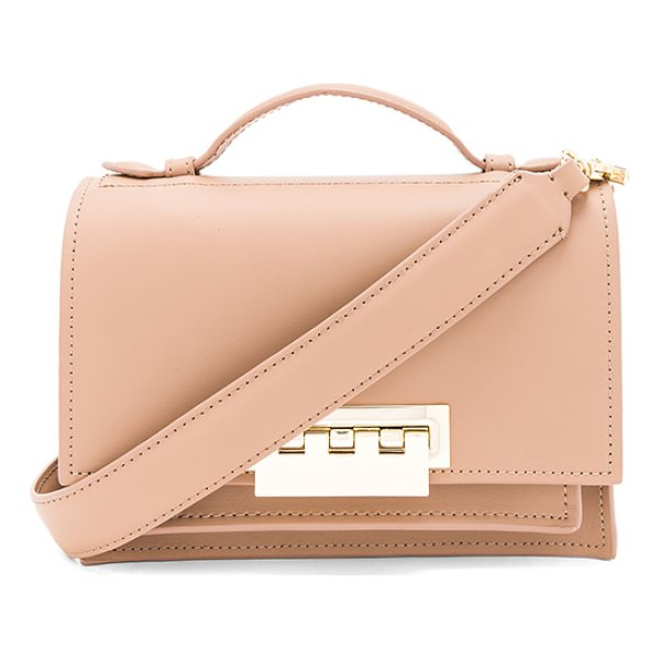 ZAC ZAC POSEN Earthette Accordion Shoulder Bag - Leather exterior and lining. Flap top with fold over clasp...