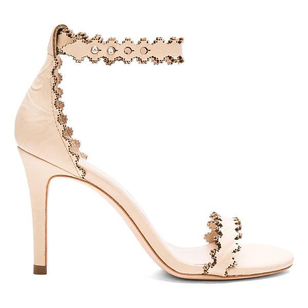 ZIMMERMANN Lace ankle heel - Leather upper and sole. Ankle strap with notch closure....