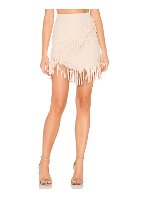 1. STATE Fringe Wrap Faux Suede Mini Skirt
