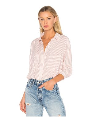 1. STATE Patch Pocket High Low Blouse