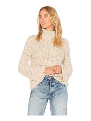 525 AMERICA Turtleneck Bell Sleeve Sweater