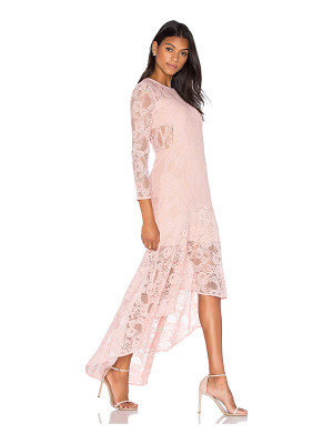 AIJEK Galella Lace Asymmetric Maxi Dress