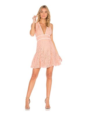 AIJEK Mae Plunge Lace Dress