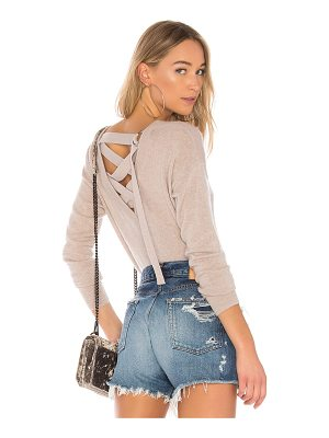 AUTUMN CASHMERE Lace Up Back Sweater