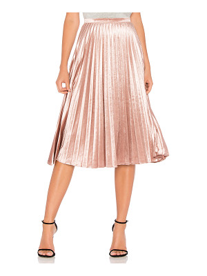 BARDOT Velour Pleat Skirt