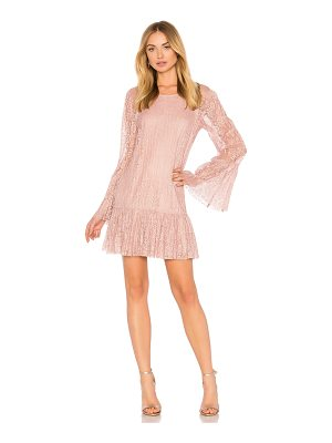 BCBGeneration Double Tiered Dress In Rose Smoke