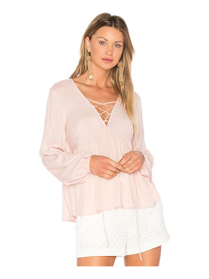 BCBGeneration Lace Up Blouse