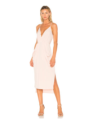 BCBGENERATION Midi Faux Wrap Dress In Rose Smoke