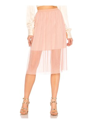 BCBGENERATION Midi Skirt With Elastic In Rose Smoke