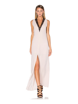 BCBGMAXAZRIA Lace Front Maxi Dress