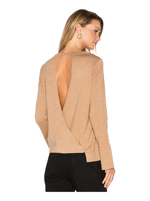 BCBGMAXAZRIA Open Back Sweater