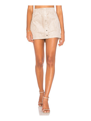 BCBGMAXAZRIA Suede Mini Skirt