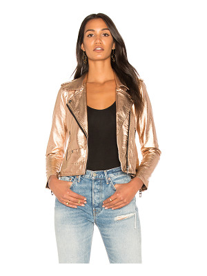 BLANK NYC Metallic Moto Jacket