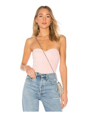 by the way. carla faux suede bodysuit