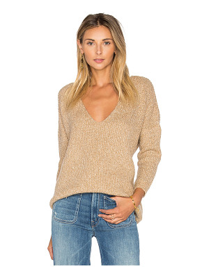 Callahan Heathered V Neck Sweater