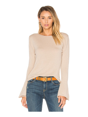 Central Park West Vienna Cashmere Bell Sleeve Sweater