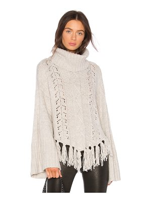 cupcakes and cashmere Prilla Fringe Sweater