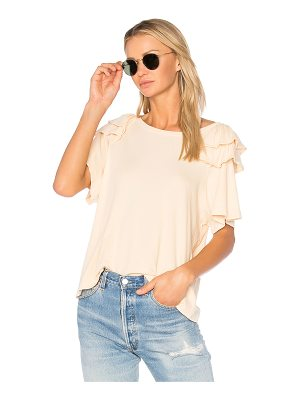 CURRENT/ELLIOTT The Double Ruffle Tee