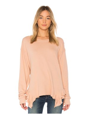 CURRENT/ELLIOTT The Slouchy Ruffle Sweatshirt