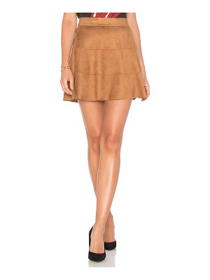 David Lerner Waverly Suede Skirt