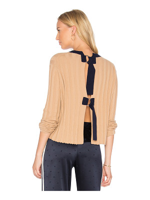 DEREK LAM 10 CROSBY Open Back Pullover