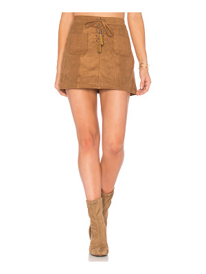 Ella Moss Connelly Faux Suede Skirt