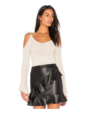 ENDLESS ROSE Cold Shoulder Sweater