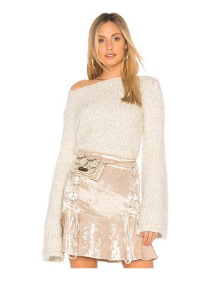 ENDLESS ROSE Cropped Sweater