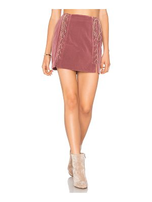 ENDLESS ROSE Lace Up Skirt