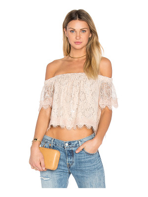 ENDLESS ROSE Off The Shoulder Lace Top