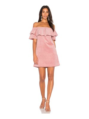 Endless Rose Ribbed Velvet Off Shoulder Dress
