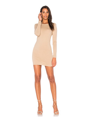 ENZA COSTA Long Sleeve Crewneck Mini Dress