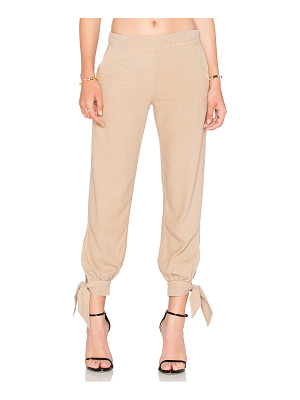 ENZA COSTA Silk Noil Ankle Tie Easy Pant
