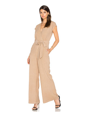 ENZA COSTA Silk Noil Wrap Tie Jumpsuit