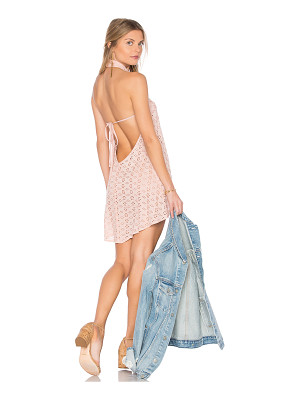 FLYNN SKYE Ariana Mini Dress In Blush Eyelet