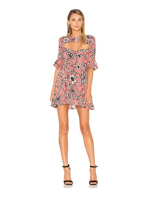 FOR LOVE & LEMONS Ayla Laced Up Dress